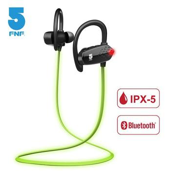 《ifive》IPX5螢光夜跑長效運動藍牙耳機(黑色)