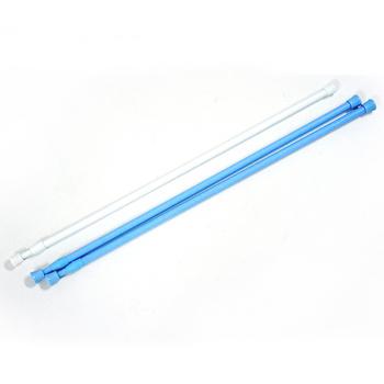 布安於室-2色款門簾伸縮桿約64-102cm(3入組-粉藍色*2+白色*1)