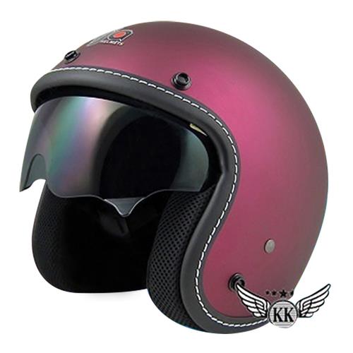《台灣製》806車線內鏡安全帽-S(平桃紫)
