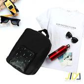 《韓版》時尚輕旅行全方位可後背式行李袋/拉桿收納包(黑色)