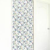布安於室-花開富貴遮光風水簾(藍花)