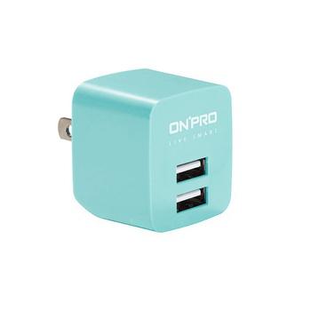 ★結帳現折★ONPRO UC-2P01 雙USB輸出電源供應器/充電器(5V/2.4A)(嬰兒藍)