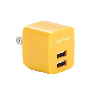 ★結帳現折★ONPRO UC-2P01 雙USB輸出電源供應器/充電器(5V/2.4A)(芒果黃)
