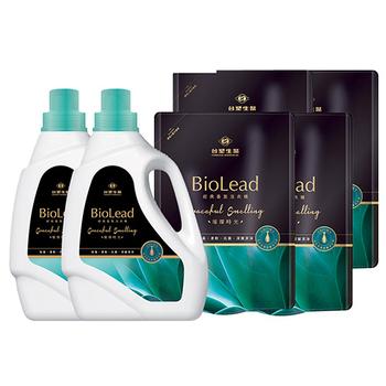 《台塑生醫BioLead》經典香氛洗衣精 璀璨時光*(2瓶+4包)