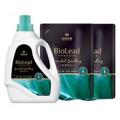 《台塑生醫BioLead》經典香氛洗衣精 璀璨時光*(1瓶+2包)