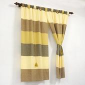 布安於室-色塊純棉窗簾-大地色