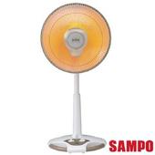 《聲寶SAMPO》14吋風扇型鹵素電暖器 HX-FD14F