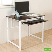 《DFhouse》新商品上市 亨利80公分附鍵盤多功能工作桌*兩色可選*(胡桃木色)