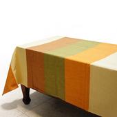布安於室-色塊純棉桌巾(古樸色系)