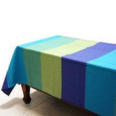 布安於室-色塊純棉桌巾(藍色系)