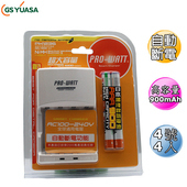 《日本湯淺YUASA》鎳氫4號4入(900mah)+智慧型充電器1入組