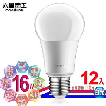 《太星電工》LED燈泡 E27/16W/(12入)(白光)