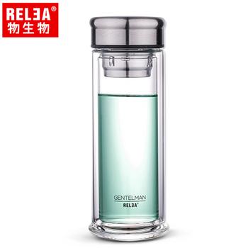 香港RELEA物生物 280ml風範耐熱雙層玻璃杯