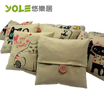 《YOLE悠樂居》貓咪物語方型香炭包(2入)#1035061