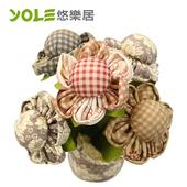 《YOLE悠樂居》爭妍-花藝造型香炭包(2入)#1035059