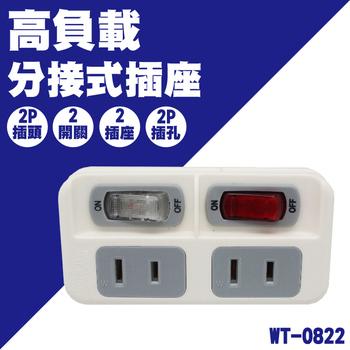 威電 威電 WT-0822 高負載分接式插座(威電 WT-0822 高負載分接式插座)