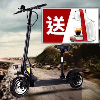 《★送雀巢膠囊咖啡機 ★JOYOR》EY-3A+ 36V鋰電 搭配 350W電機 10吋大輪徑 碟煞電動滑板車 - 坐墊版(EY03A+B)
