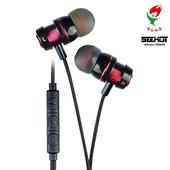 《嘻哈部落SeeHot》入耳式線控耳機麥克風(SH-MHS520)(胭脂紅)