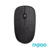 《Rapoo雷柏》北歐風3510 PLUS  布面無線滑鼠(黑)