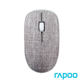 《Rapoo雷柏》北歐風3510 PLUS  布面無線滑鼠(灰)