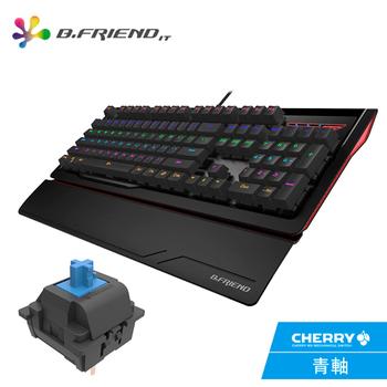 《B.FRIEND》MK1 CHERRY 軸多彩發光機械鍵盤(青軸)