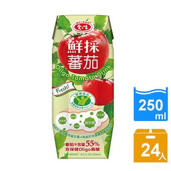 《愛之味》Oligo健字號鮮採 蕃茄汁250ml(24瓶/箱)(1箱)