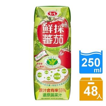 《愛之味》Oligo健字號鮮採 蕃茄汁250ml(24瓶/箱)(2箱)
