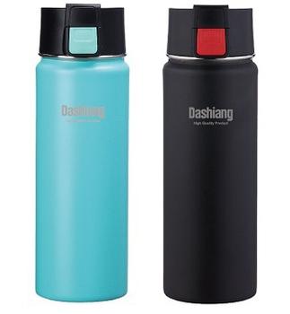 Dashiang 雙層彈蓋瓶500ml(藍、黑隨機 DS-C42-500)