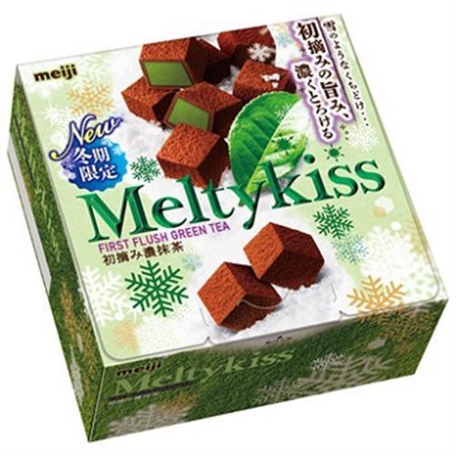 明治 Meltykiss 夾餡巧克力(抹茶口味-56g/盒)