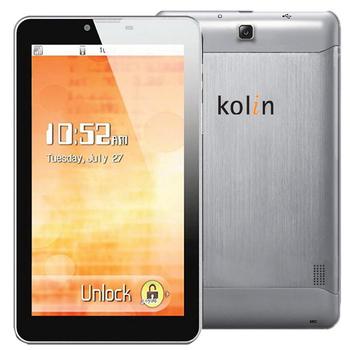 kolin 歌林7吋雙核雙卡雙待3G通話平板(福利品)-買就送歌林藍芽喇叭KB-DS001(KPAD-DS701)