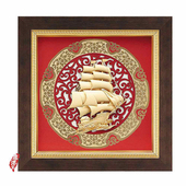 《My Gifts》立體金箔畫-一帆風順(圓形窗花系列20.5x20.5cm)