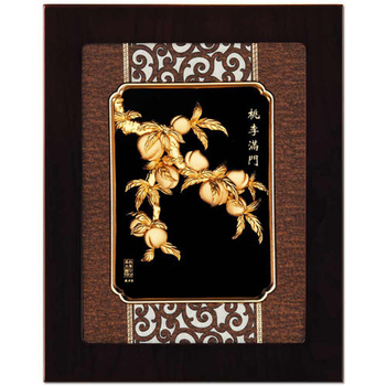 《My Gifts》立體金箔畫-桃李滿門(框畫系列27x34cm)