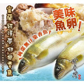 《那魯灣》台灣特選純淨帶卵母香魚 (6尾/1公斤/盒)(1盒)