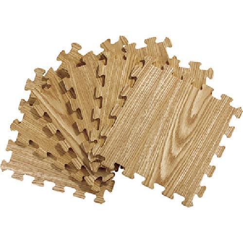《Actuel》木紋印刷拼裝地墊6入(淺大橡)