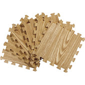 《Actuel》木紋印刷拼裝地墊6入(深大橡)