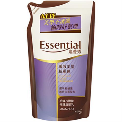 逸萱秀Essential 瞬效洗髮乳補充包550ml(美型抗亂翹)
