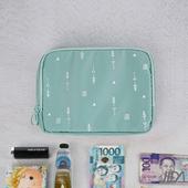 《韓版》超質感280T加厚防水雙層 護照包/收納包(湖水綠)