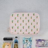 《韓版》超質感280T加厚防水雙層 護照包/收納包(仙人掌)