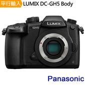 《Panasonic》LUMIX GH5 單機身*(平輸中文)-送強力大吹球清潔組+硬式保護貼(黑色)