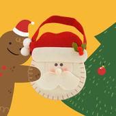 《花草巫婆》薑餅人 手工餅乾(35±3%克*3入)(聖誕老人禮物袋)
