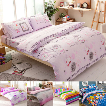 FOCA 【FOCA加碼送對枕-加大不加價】雙人/加大-100%精梳棉四件式兩用被床包組