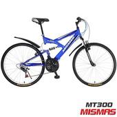 《MISMAS》MT300 超越自我 D型 26吋21速 前後避震 登山車 (顏色隨機)(MT300)