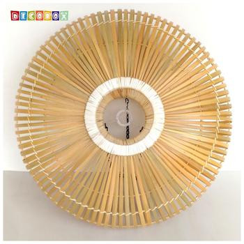 DecoBox 中國風原色竹燈罩(55公分)-不含燈泡線材(插花,花器)