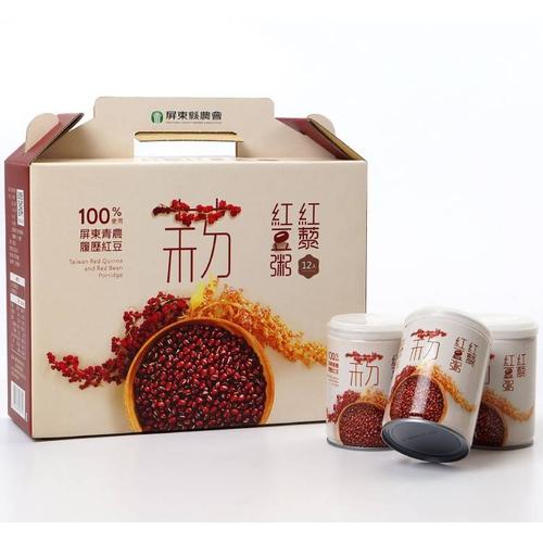 《即期2020.07.03 屏農》紅藜紅豆粥(250g*12入/盒)