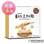 《統欣生技》納豆紅麴禮盒(60粒/5瓶/盒)x6(4711946397142)