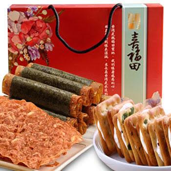 《喜福田》甜蜜禮盒(肉紙+肉紙捲+牛軋餅)(3入/組)