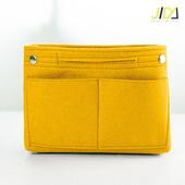 《佶之屋》韓版毛氈加厚手提收納包中袋-基本款(黃色)