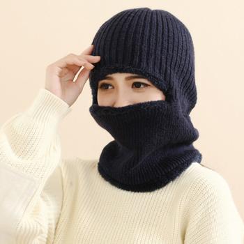 《Verona》韓款冬季男女款機車護頸頭套保暖帽(黑色)