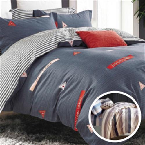 范倫鐵諾 純棉雙人床包組(5*6.2尺- 左岸光年)