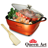 《Queen Art》大容量5公升多功能不沾美食料理電火鍋(QA-KX88)